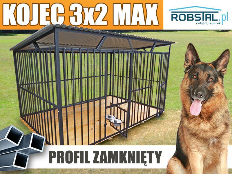 Ogromnie Kojec dla psa klatka kojce dla psów MAX 3x2 różne wymiary montaż UE75