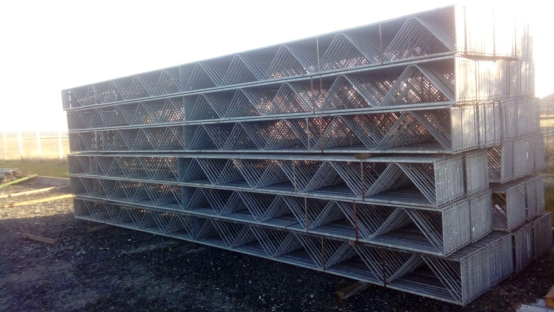 Wspaniały Konstrukcja stalowa kratownica dachowa jednospadowa 7,90 m. dach TQ89