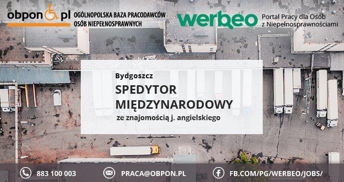 Spedytor Międzynarodowy z j  angielskim - praca w Bydgoszczy